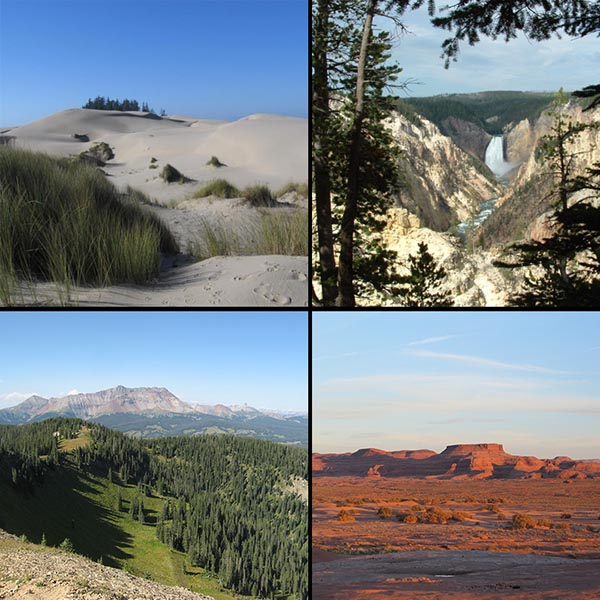 Images of public lands managed by Federal Agencies