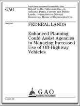 GAO REPORT ON OHVS JUNE 2009