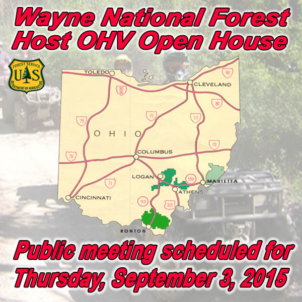OHIO - Wayne National Forest to Host OHV Open House