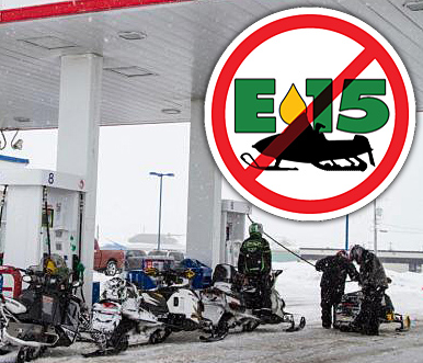 E-15 fuel is NOT approved for snowmobile use!