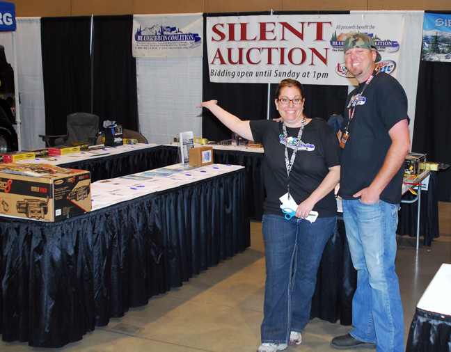 Daina and Matt Smith at the BRC booth during the Reno Expo.
