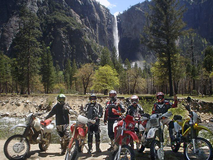 Family Off Road Adventures riders at Bridal Veil Falls.