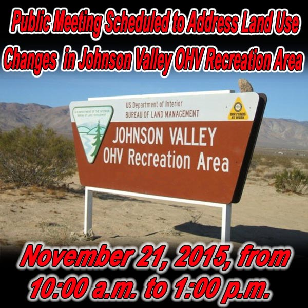 CALIFORNIA - Public Meeting Scheduled to Address Land Use Changes in the Johnson