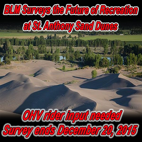 IDAHO - BLM Surveys the Future of Recreation at St. Anthony Sand Dunes
