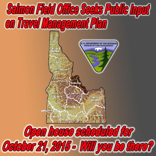 IDAHO - BLM Seeks Public Input on Travel Management Plan