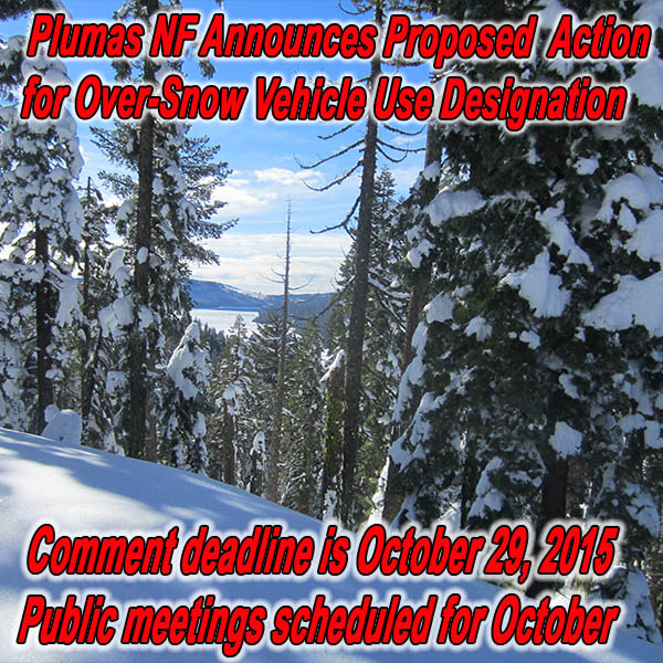 CALIFORNIA - Plumas NF Announces Proposed Action for Over-Snow Vehicle Use Desig