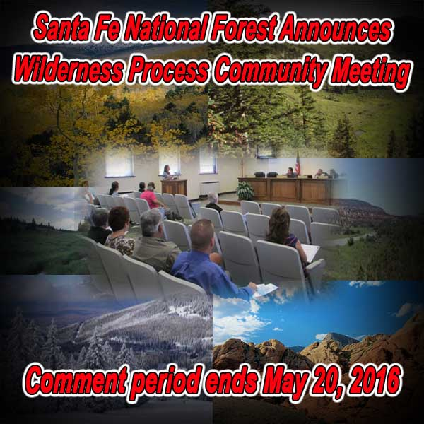NEW MEXICO - Santa Fe NF Announces Wilderness Process Community Meetings
