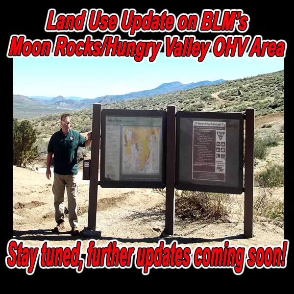 NEVADA - Land Use Update on BLM's Moon Rocks/Hungry Valley OHV Area