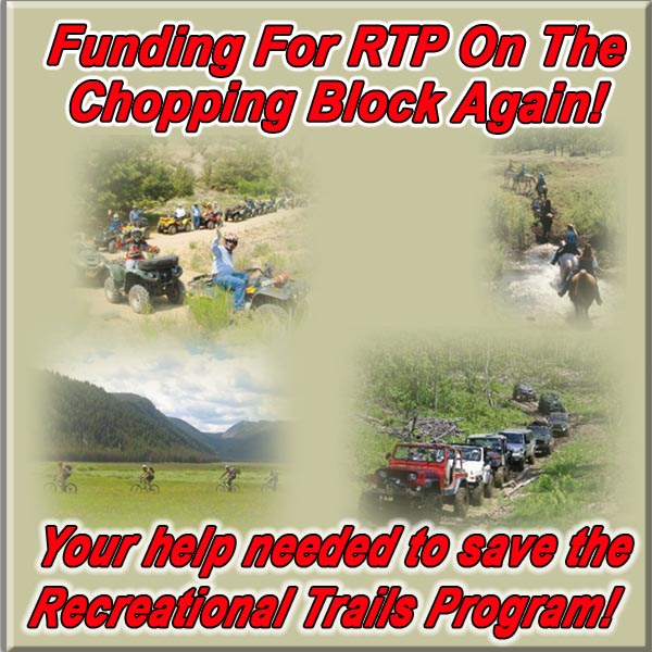 FUNDING FOR RTP ON THE CHOPPING BLOCK AGAIN!