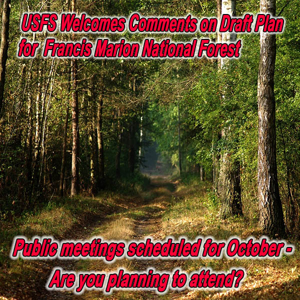 SOUTH CAROLINA - USFS Announces Public Meetings on Francis Marion NF Draft Fores