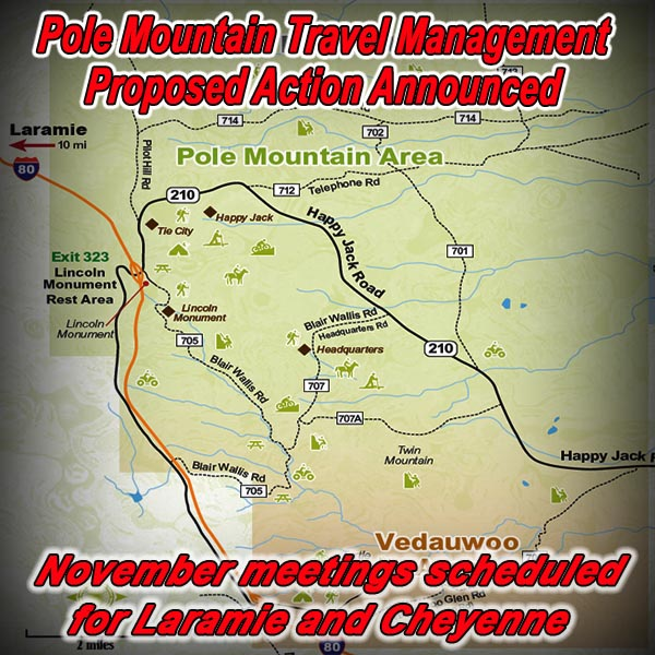 WYOMING - Pole Mountain Travel Management Proposed Action Announced