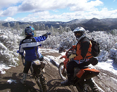 Clear Creek OHV enthusiasts on trails before the May 2008 closure.