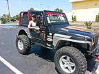 SpiderWebShade partnered with several awesome businesses on this Jeep and Stacie Albright is ready to hit the beach!