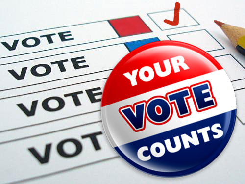 Vote for your candidate TODAY!