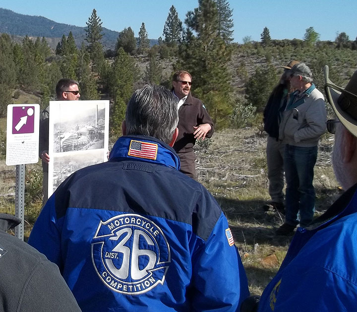BLM staff explain efforts to protect cultural and resource values at Chappie Shasta OHV Area
