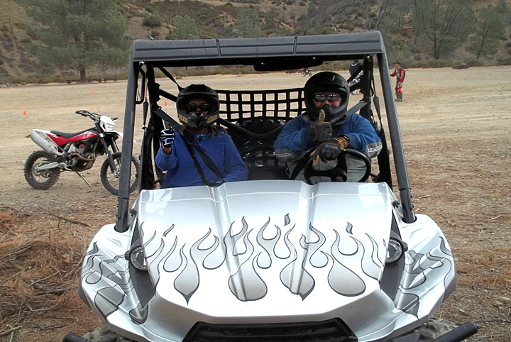 Recreation Staff Officer, Brenda Tracy,  for the Shasta Trinity National Forest Takes 1st SxS Ride