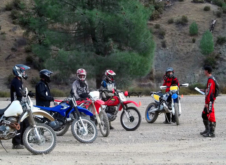 New Off-Road Motorcyclists Prepare to Take Dirt Bike School Class